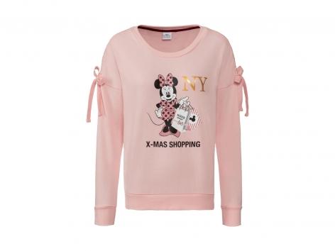 MICKEY MOUSE Minnie /& Topolino Stripes Donna Felpa con Cappuccio Blu M 65/% Cotone 35/% Poliestere Regular